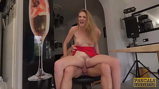 PASCALSSUBSLUTS - Lady Ashley Lane dominated in chum around with annoy kitchen
