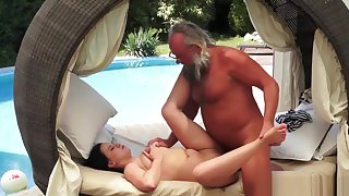 Kinky Teen Fucks Old Man