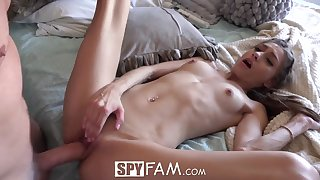 Frolic stunner with braids is providing a oral job to her step- bro, before getting a superb ravage