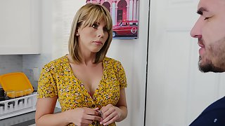 Horny friend's mom dominating over hungover dude