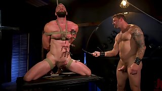 Gay forebears Public in rough scenes of maledom BDSM porn