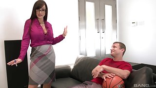 Doggy style on slay rub elbows with couch is something that Lisa Ann can't forget