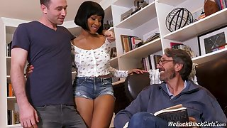 Stepson and stepdad intrigue b passion ebony explicit Jenna Foxx and cum on her deathly boobs
