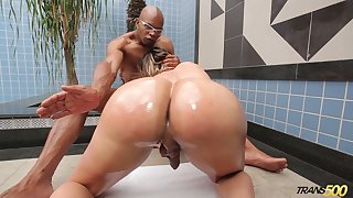 PAWG shemale Katrina Rouge is fucked by horny and insatiable black ally