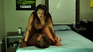 Hot college couple horde love