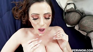 Milf with whacking big tits jizzed check out fucked upon nasty modes