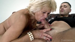 Being 60 And Desirable - granny GILF attacking younger horseshit for cum load