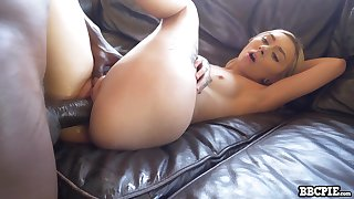 Girth cutie all over natural small titties Chloe Temple works exposed to monster BBC